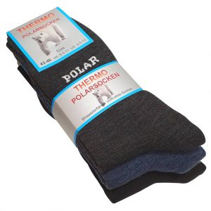 Polar Thermosocken Vollfrottee 3 Paar farbmix Pack