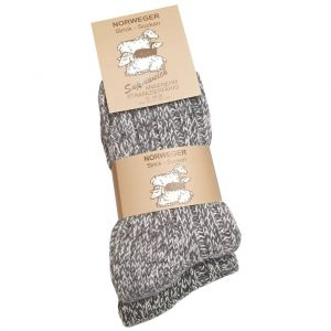 Norweger Socken Grobstrick 2 Paar Graumix Pack