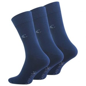 Premium Business Socken Herren , marineblau 3 Paar