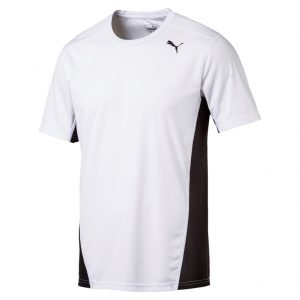 Herren Puma T-Shirt Cross the Line weiß