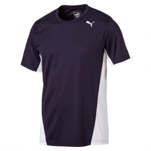Herren Puma T-Shirt Cross the Line navy-weiß