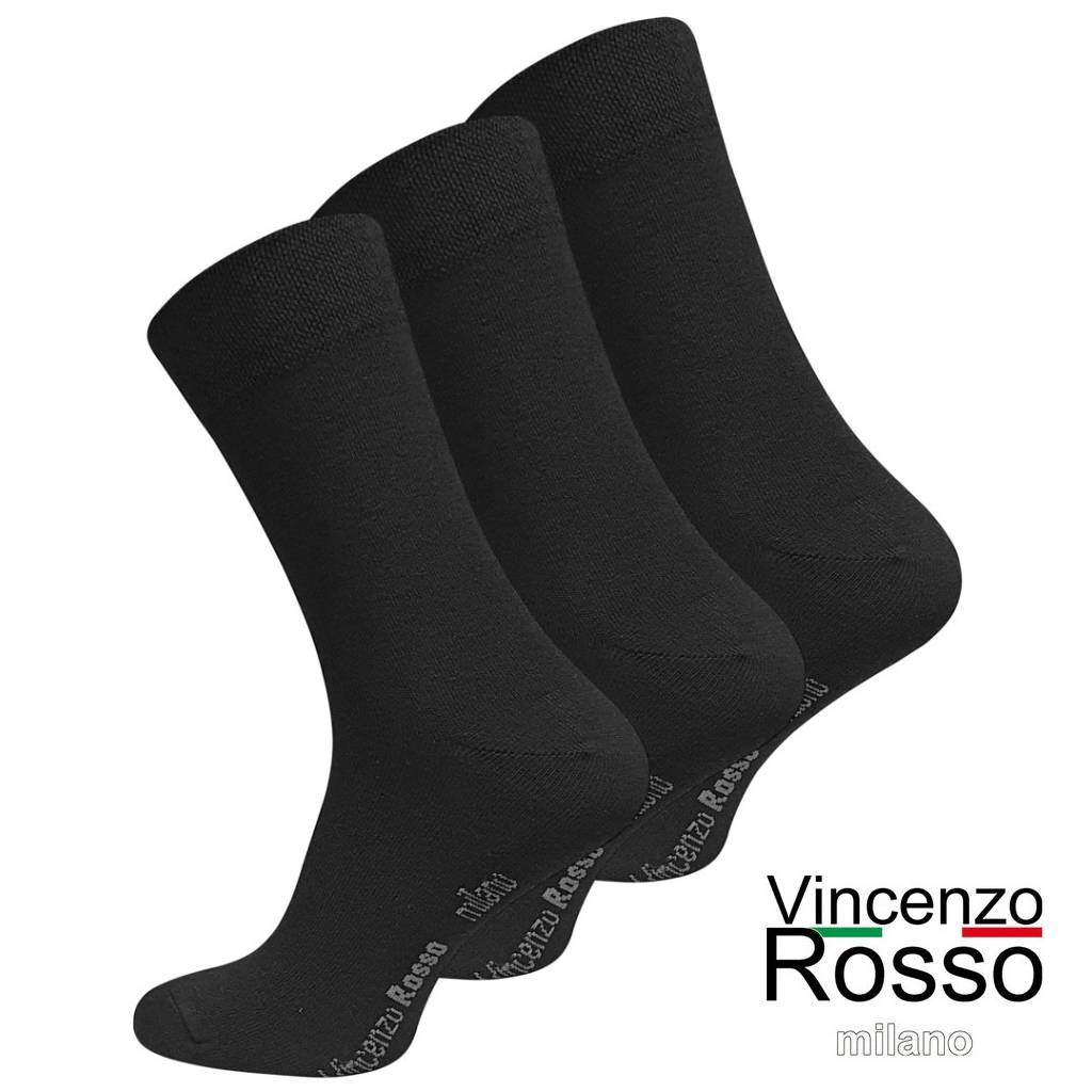 Business Socken Vincenzo Rosso, schwarz