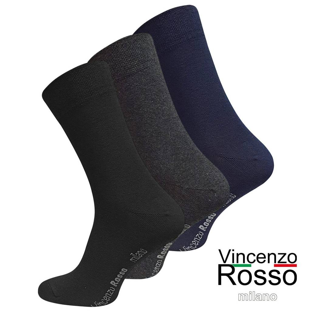 Business Socken Vincenzo Rosso, farbmix