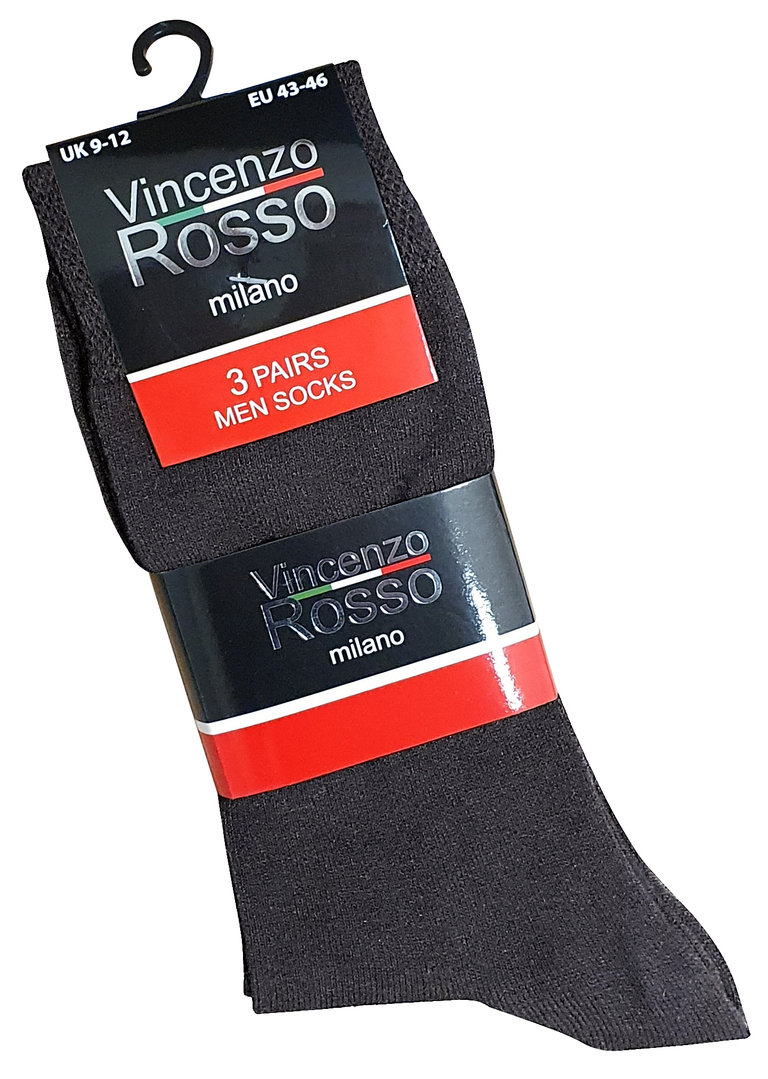 Business Socken Vincenzo Rosso, farbmix Pack