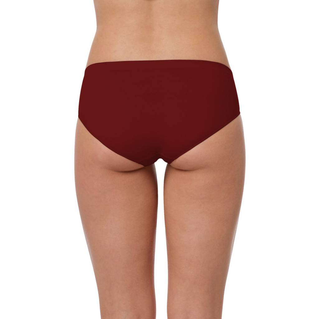Seamless Hüftslip Microfaser Low Cut bordeaux hinten