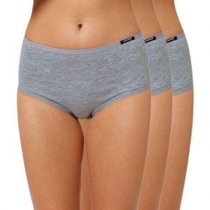 "High Waist Slip Baumwolle ""Cotton Stretch"" grau"
