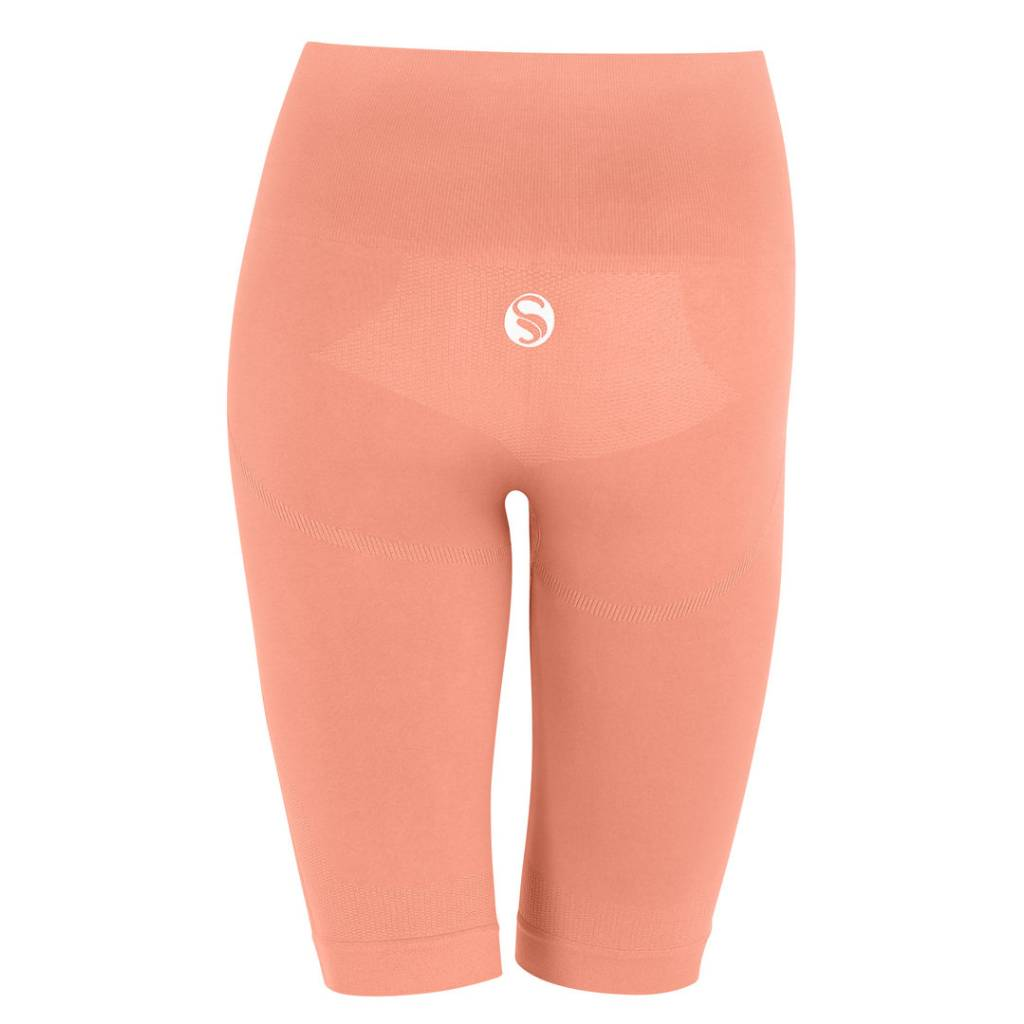 Seamless High Waist Sport Short, Radler Shorts, rosa hinten