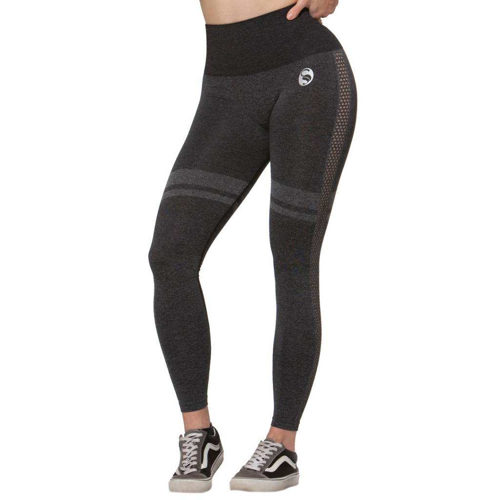 Sport Leggings High Waist , Seamless, schwarz